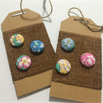 LIBERTY LONDON Tana Lawn covered Buttons, 15mm diameter, Multicoloured