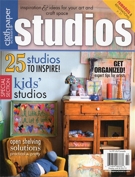 Cloth Paper Scissors, Studios Magazine, Summer 2012, Craft Destash