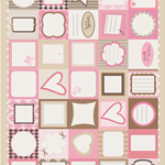 Quilt Labels | Pinks, Red, Cream, Browns | Lovely Designs!