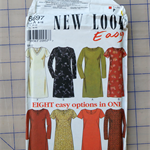 New Look Easy 6697 dress uncut pattern. Size 8 - 18