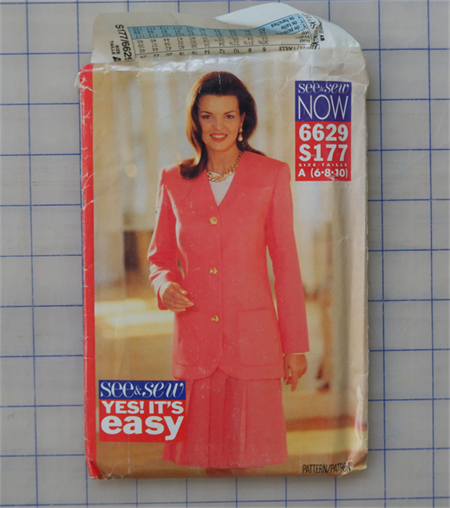 See & Sew Now 6629 S177 outfit uncut pattern. Size 6 - 10