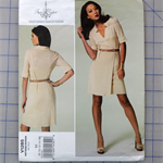 Vogue V1285 uncut pattern. Dress pattern. Sizes 8 - 16