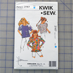 Kwik Sew 2167 uncut pattern for a girls top. Sizes 4 - 7