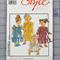 Style 2014 girls dresses uncut pattern. Size 3m - 36m