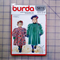 Burda 5611 childrens dress coat uncut pattern. Size 3, 4, 6, 7
