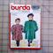 Burda 5611 childrens dress coat uncut pattern. Size 3, 4, 6, 7
