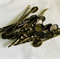 18 Large Oval Pad Bronze Bobby Pins/ Hair Clips