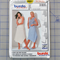Burda easy 8907 semi-fitted skirt uncut pattern. Size 8 - 20