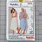 Burda easy 8907 semi-fitted skirt uncut pattern. Size 8 - 20