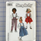 Simplicity 8261 kids suspender skirt and pants uncut pattern. Size 4-6