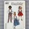 Simplicity 8261 kids suspender skirt and pants uncut pattern. Size 4-6