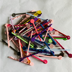 50 Large Pad Coloured Bobby Pins/ Hair Clips