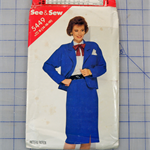 See & Sew 5449 jacket and skirt uncut pattern. Size 14 - 18