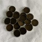20 Antique Bronze Pendant Trays Settings 18mm.