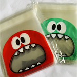 100  Monster Self Adhesive Seal Plastic Bags 10x 10cm
