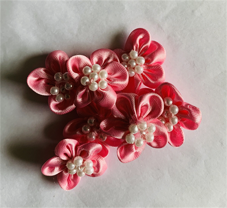 7 Pink Ribbon and Pear Flowers