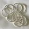 10  Silver Twist Circles-17mm wide
