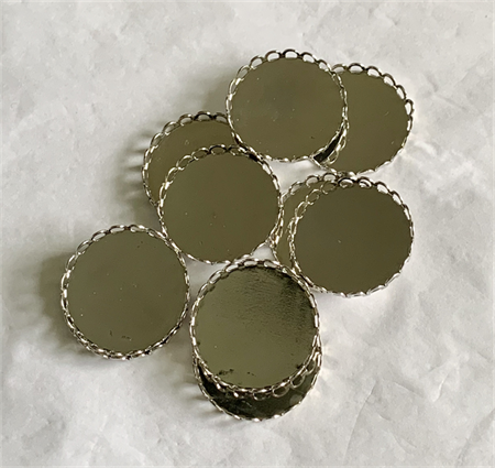 20 Antique Silver Pendant Trays Settings 25mm.