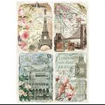 Rice Paper - Decoupage -  1 x A4 Size Sheet - Vintage Paris