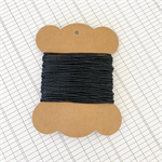 10 Metres Black High Quality Wax Cotton Cord