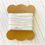 10 Metres White High Quality Wax Cotton Cord