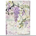 Rice Paper - Decoupage -  1 x A4 Size Sheet - Purple Flowers