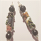 Designer Beads Boho Gypsy Wire wrapped paper/fabric beads set of 2