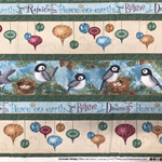Chickadee Holiday by Blue and Arrow for South Sea Imports | 75cm piece