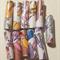 handmade hand colored designer paper beads set of eleven