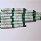 Handmade paper beads set of 21 in green and white  beads.