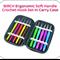 BIRCH Ergonomic Soft Handle Crochet Hooks - Set of 10 in Case