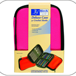 BIRCH - Deluxe Case for Crochet Hooks - Pink - 24 Hook Capacity