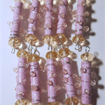 Pink Bling. Wire wrapped paper beads with Swarovski crystals.