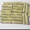 Handmade Designer paper beads, green set of 21