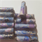 Stunning Blue, purple and gold Japanese paper handmade designer beads set of 12