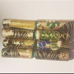 Stunning navy & gold Japanese paper handmade designer paper beads set of 8