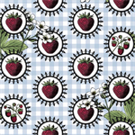 Botanica by Jason Yenter for In the Beginning Fabrics | Strawberry Cameos
