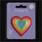 Rainbow Heart - Iron or Sew on Motif