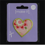 Pretty Heart - Iron or Sew on Motif