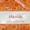 Orange and Cream Geometric | Hankie